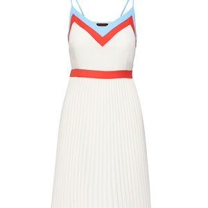 BANANA REPUBLIC Color-Blocked Pleated Mini Dress